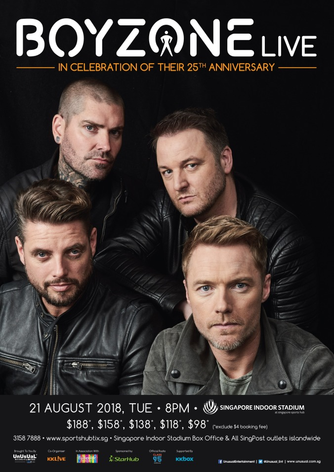 Ticket boyzone live in singapore