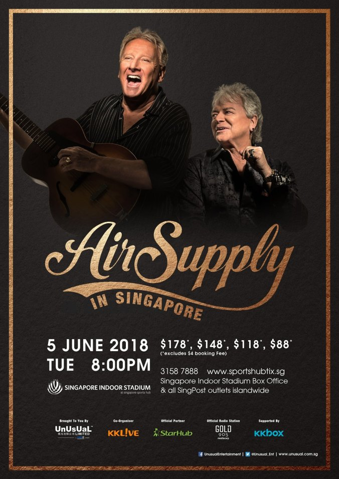 Air Supply live in Singapore 2018