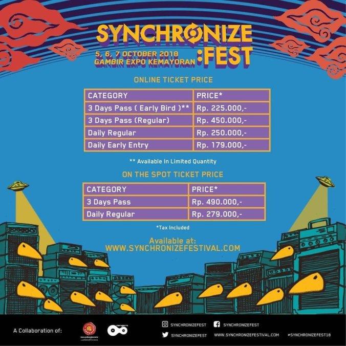 Tiket synchronize fest 2018